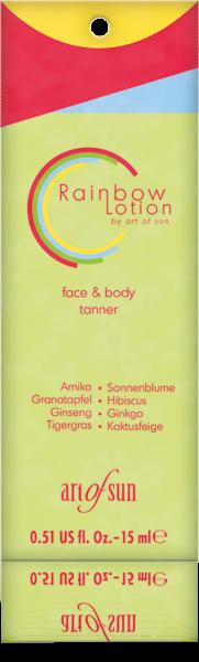 Art of Sun RAINBOW Lotion face&body tanner 15ml